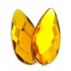 Acrylic 17x9mm Pear Shape Facet Marigold
